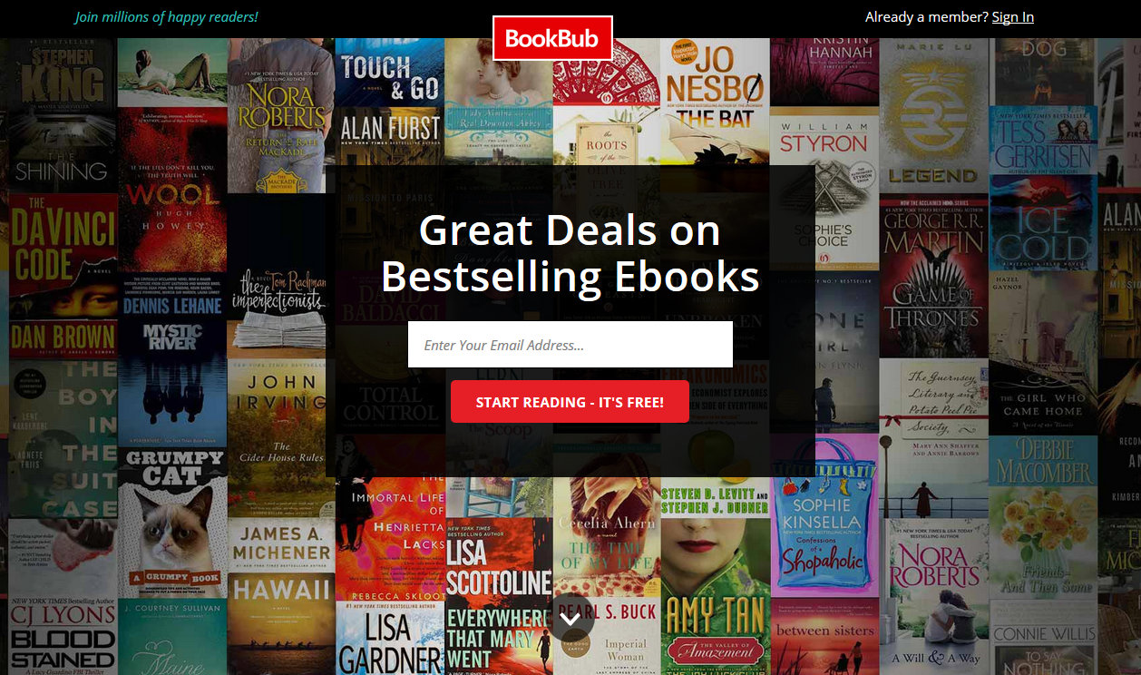 BookBub - Akciós könyvek tárháza!