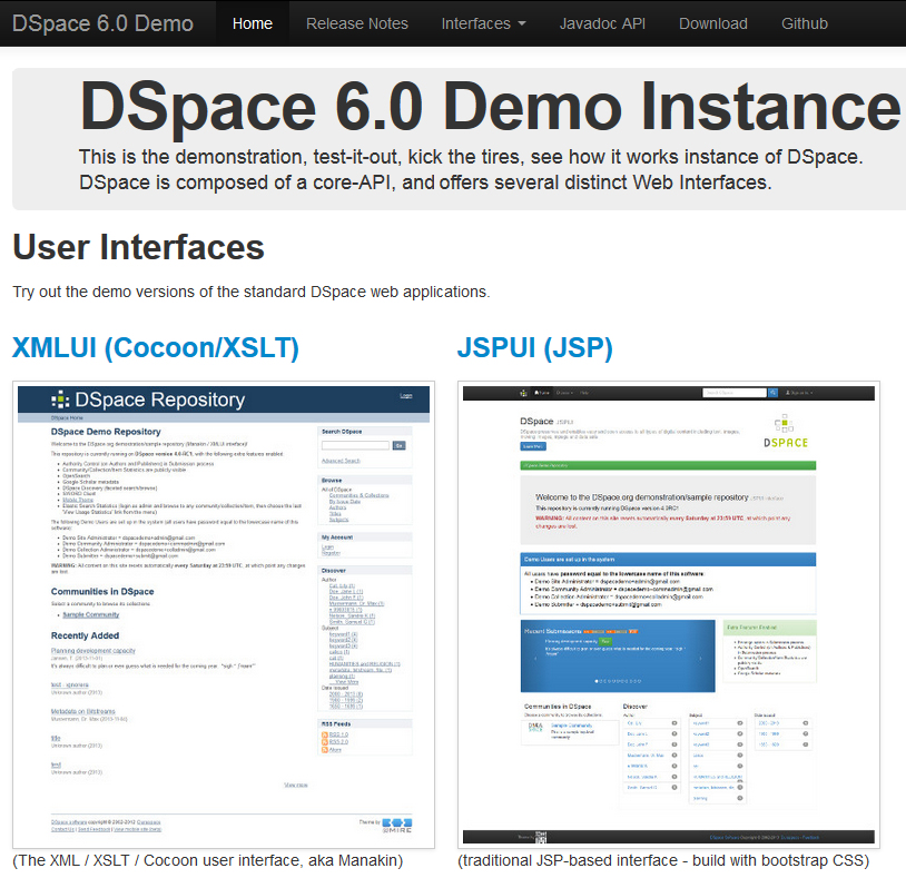 DSpace 6.0 Demo Site