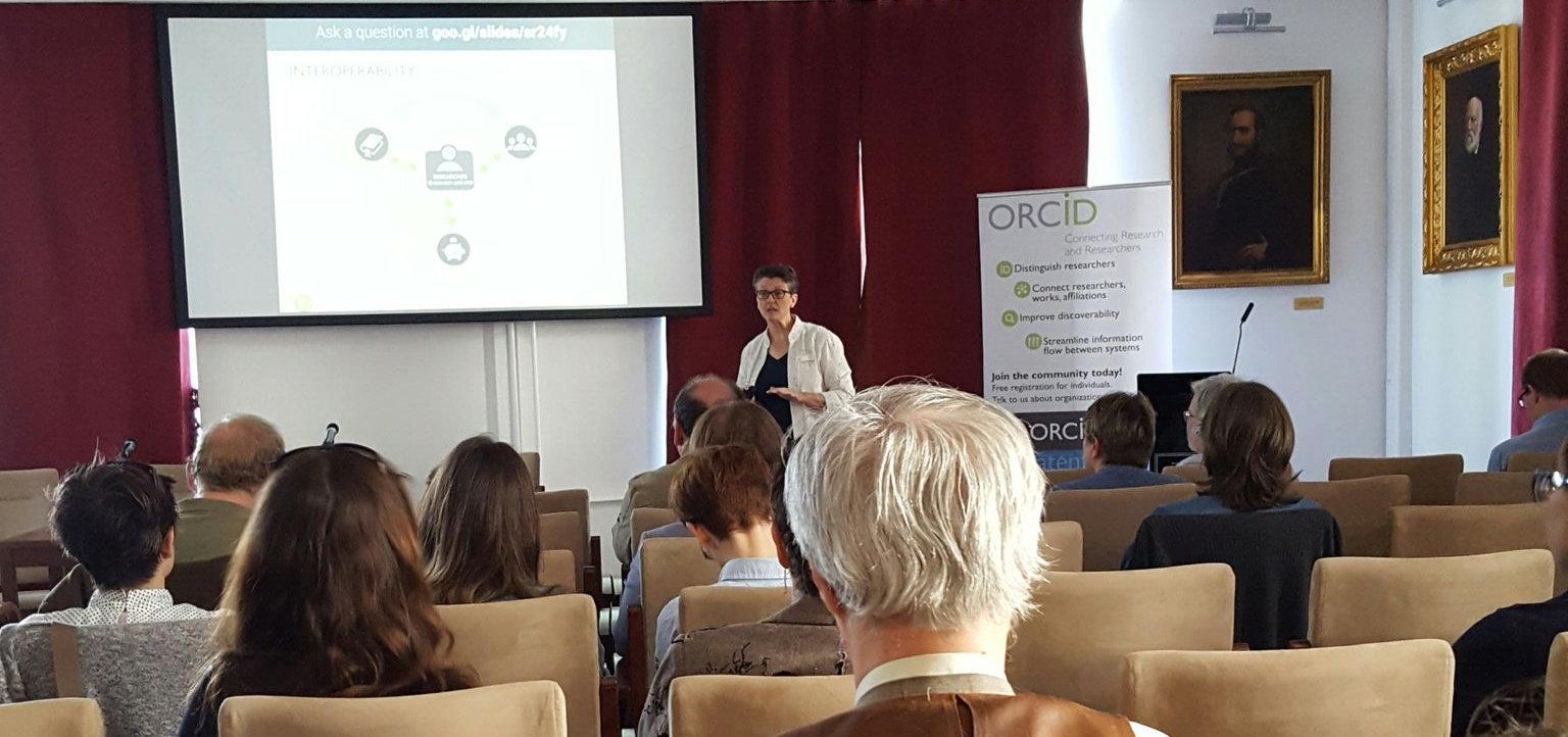 Laure Haak megnyitója az ORCID Workshopon