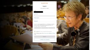 E-mail cím és jelszó megadása