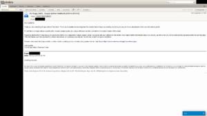 Feedback e-mail