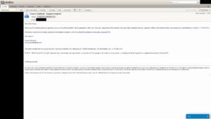 E-mail a sikeres összevonásról
