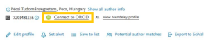 Connect to ORCID